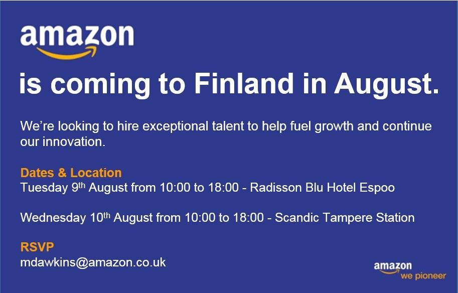 Amazon Finland recruitment