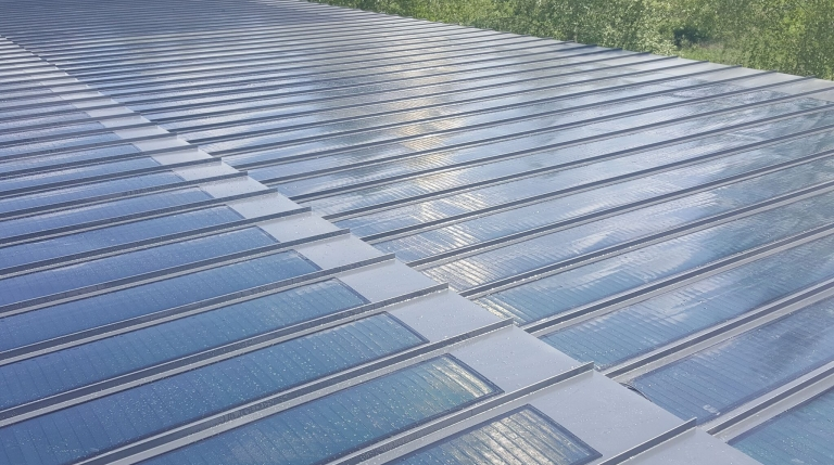 Virte Solar Roof Sheeting With Integrated Solar Panels