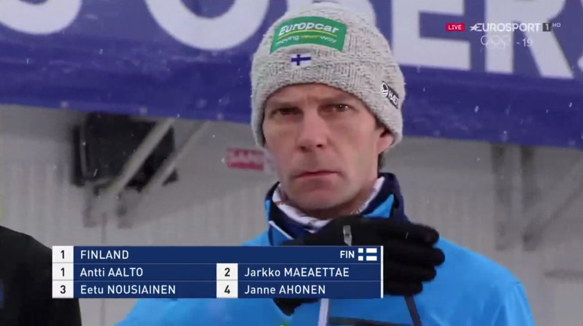 Watch the Finnish Ski Jumping team's hypnotic introduction