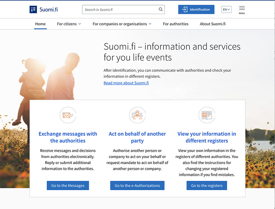 suomi.fi screenshot