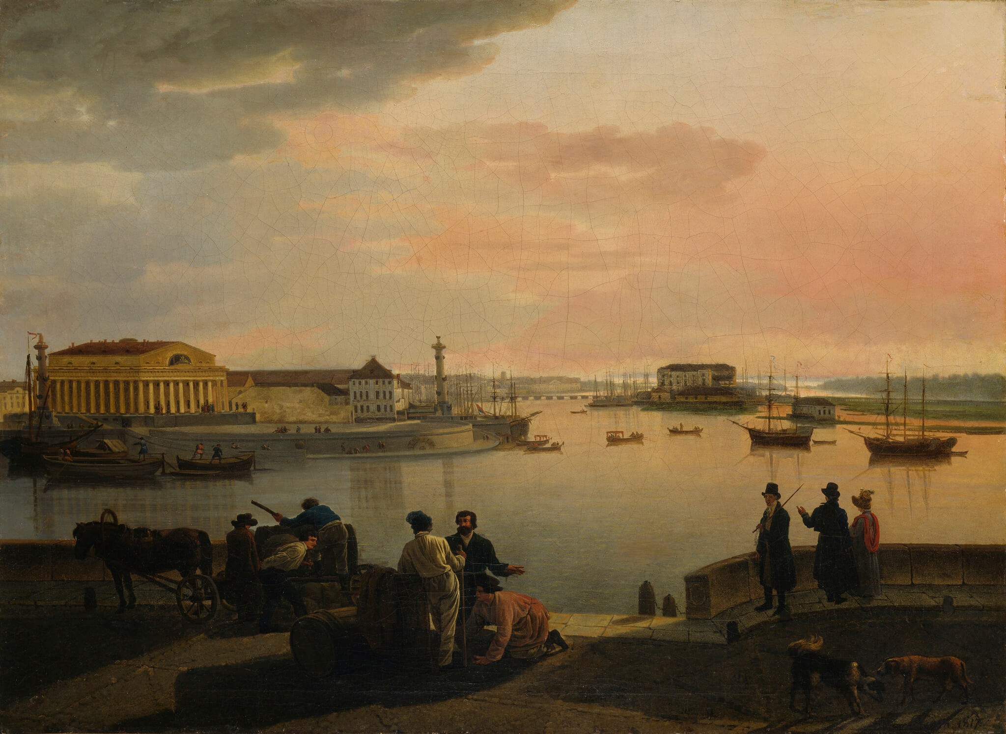 Artwork: Silvestr Feodosievitš Štšedrin: A View from St. Petersburg, 1817